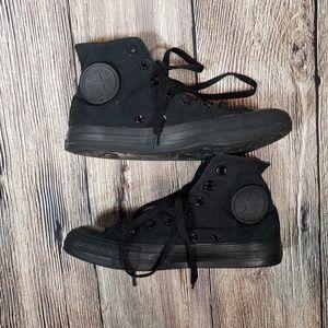 Converse all black high top unisex 5/7
